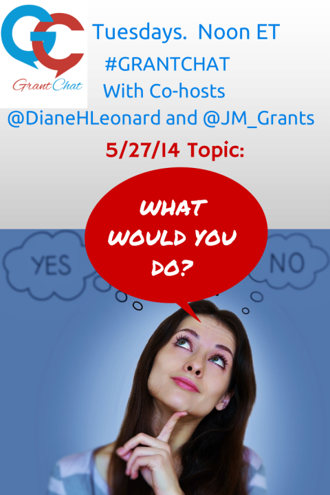#grantchat Question Preview: What Would You Do 5/27 @ 12pm ET