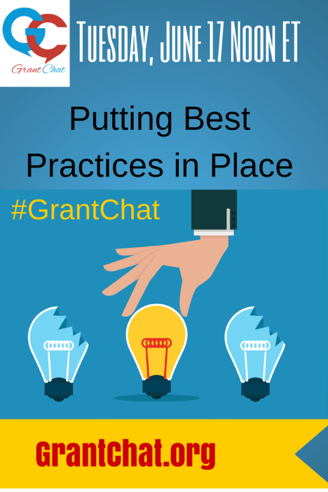 Putting Best Practices Into Place: Question Preview 06/17/14 #Grantchat
