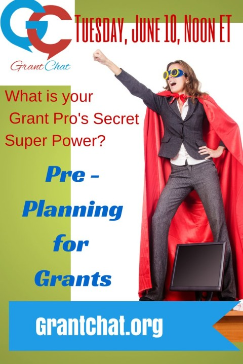 #Grantchat: Secret to Grants? Grant Pre-Planning